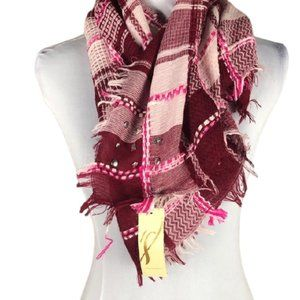 SCARF BYCOLLECTION EIGHTEEN WINE COLOR